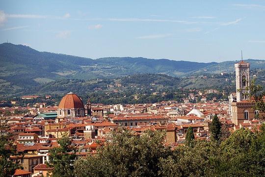 Панорама Флоренции с холма Боболи