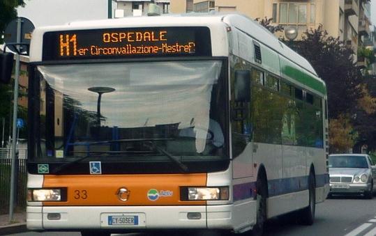 Автобусы из аэропорта в Местре