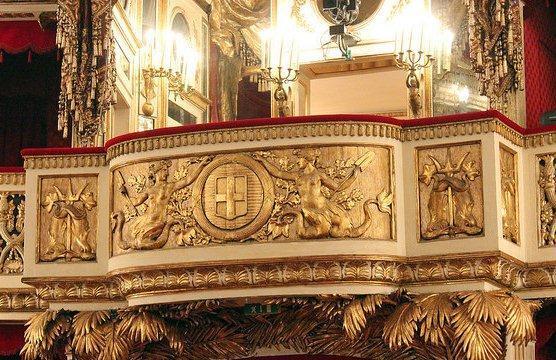 Королевская ложа, театр Сан Карло в Неаполе
