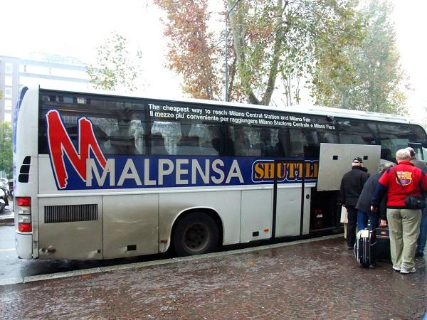 Автобус из миланского аэропорта Линате в международный аэропорт Мальпенса
