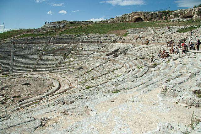 Амфитеатр в Сиракузах, Италия