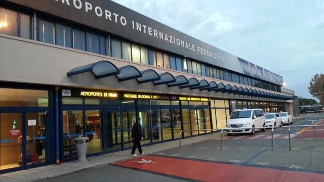 Фасад аэропорта Римини