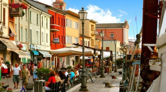 Курортный городок Чезенатико в Италии