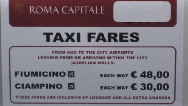 Такси из аэропорта в Риме