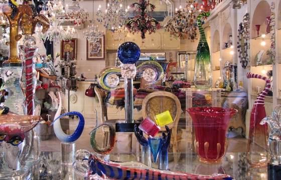 Изделия из муранского стекла в Венеции