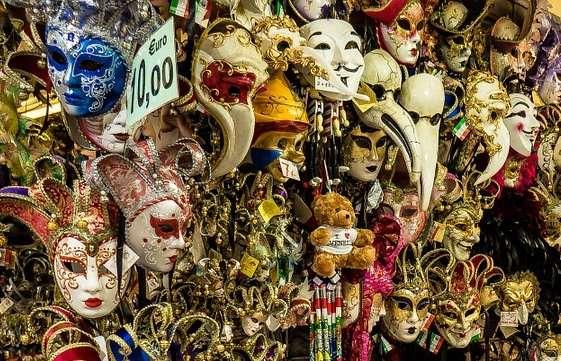 Сувениры из Венеции, магазин венецианских масок