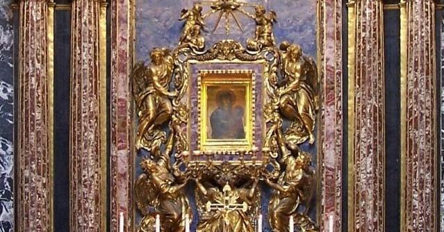 Икона Богоматерь Спасение народа римского в Базилике Санта-Мария-Маджоре