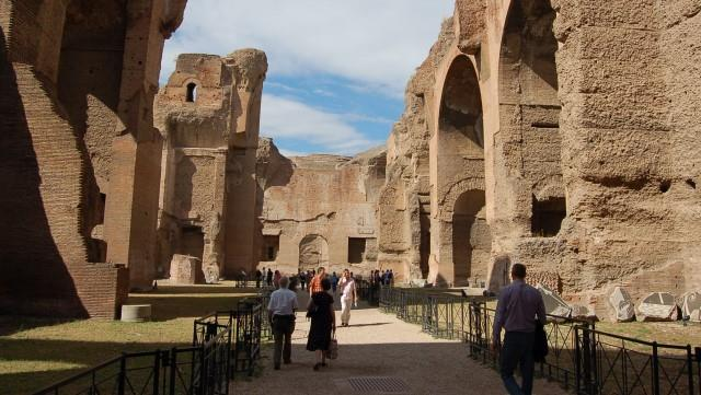 Термы Каракаллы в Риме хорошо сохранились до наших дней