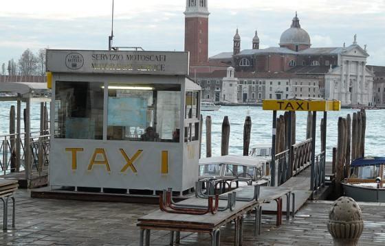 Причал такси в Венеции