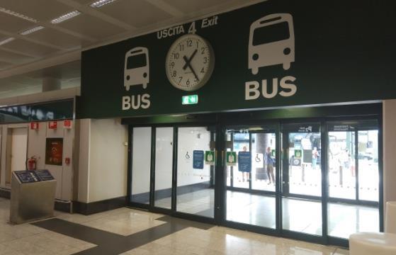 Остановки автобусов в аэропорту Мальпенса в Милане