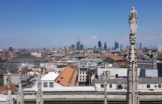 Терраса Дуомо в Милане