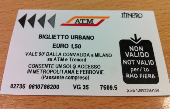 Билеты на общественный транспорт в Милане