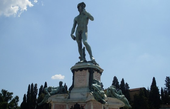 Копия статуи Давид на Площади Микеланджело во Флоренции