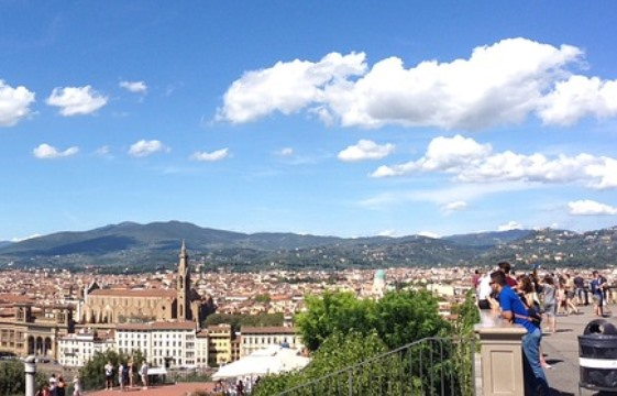 Панорамный вид на Флоренцию с площади Микеланджело