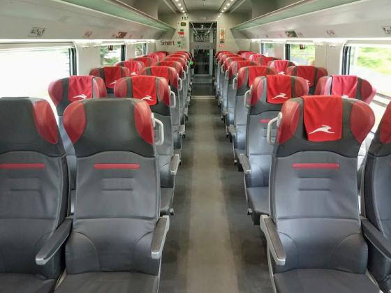 Салон итальянского поезда