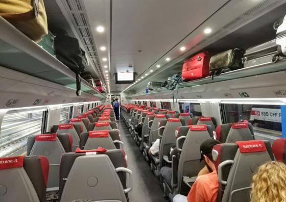Поезд Итало внутри