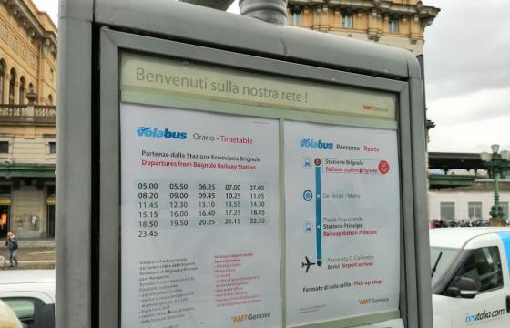 Расписание автобусов в аэропорт Генуи